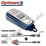 TecMate Chargeur de batterie Tecmate Optimate 3piles, 12V, TM 430, avec fiches...