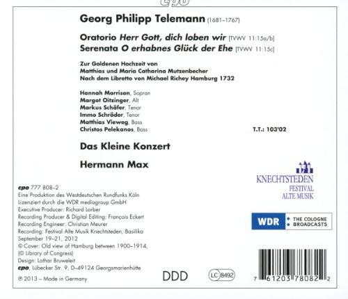 Telemann : O Erhabnes Glück Der Ehe. Oitzinger, Morrison, Schäfer, Max.