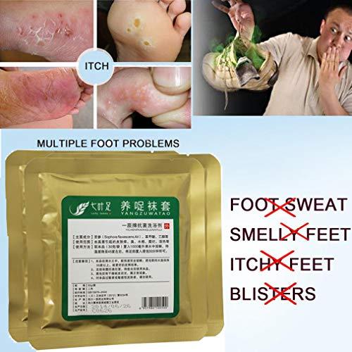BZLine Fuß Peeling Maske, Fußmaske, Schlechter Geruch Fuß Füße Schuhe Anti Blasen Geruch Pflege Fresh Herbal Powder Juckreiz