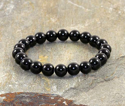 Beautiful jewelry AAA++ Quality Black Tourmaline Bracelet, Tourmaline  Jewelry, EMF Protection Bracelet, Anxiety Relief, Healing Energy 8mm Code-