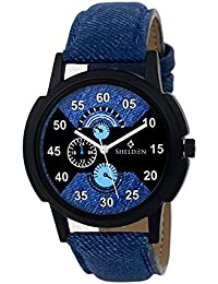 Sheldon Blue Black Multi Colour Analog Watch For Men SH-1080