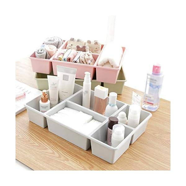 Caja de almacenamiento de maquillaje MeyJig organizador de cosméticos de gran capacidad caja de exhibición de maquillaje cepillo lápiz labial titular escritorio organizador de baño