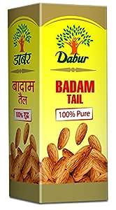 Dabur Badam Tail : 100% Pure | Sweet Almond Oil| Rich in Vitamin -E for Healthy Skin , Hair and Body - 50ml