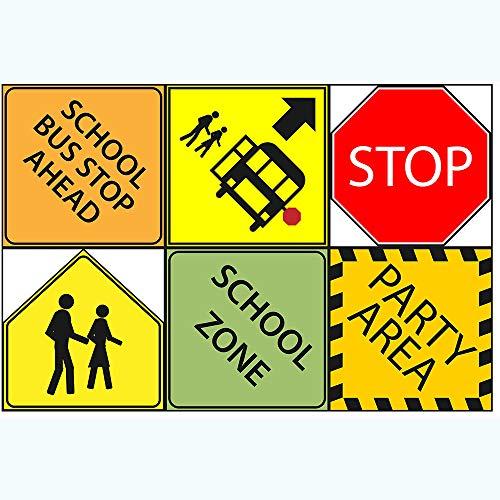 Schulbus, Party-Schild, 15,2 cm, Ausschnitte, Schulbus, Party-Dekoration, Schulbus, Partyzubehör, Raumdekoration, Partyschilder