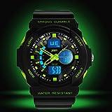 Digital Armbanduhr LED Sportuhr stoppuhr wecker wasserdicht Quaruhr Alarm