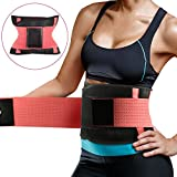 Fitnessgürtel Taille Trimmer, Schwitzgürtel zur Fettverbrennung Einstellbar Effizientes Schwitzen Fitness Gürtel Damen-Taillenformer für Sport Fitness,Training,Yoga, Cycling, Boxing