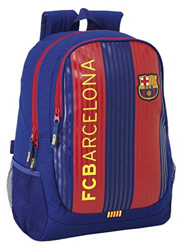 FC Barcelona Mochila Escolar, 44 cm, Azul / Granate