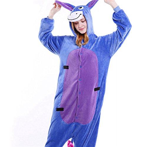 Imagen de kigurumi pijamas unisexo adulto traje disfraz adulto animal pyjamas iflife s para altura 148 158cm , burro