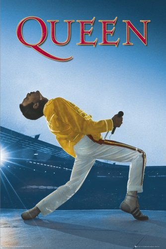 GB Eye Poster Queen Wembley Concert, Non Laminato, Multicolore, 24 x 36 Inches