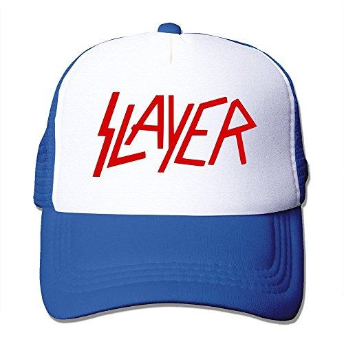 Feruch Custom Adult Unisex Slayer Wordmark 100% Nylon Mesh Caps One Size Fits Most Adjustable Mesh Hat Royalblue Custom-fit-mesh-cap