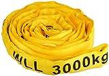 Braun 30041RS recupero strap loop carico 3000kg 2m, lunghezza utile continua con poliestere Core giallo