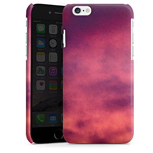 Apple iPhone 4 Housse Étui Silicone Coque Protection Lilas Nuages Ciel Cas Premium brillant