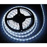 TechCode LED-Schlauch-Set (mit RGB-Farbwechsel, SMD 5050, Fernbedienung mit 44Tasten, 12V Stromversorgung, mit UK-Netzstecker) 3528 Cool White