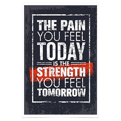 WonderwallPoster® WP001A1 Fitness Poster Motivation Bodybuilding / DIN A1+ 61 x 91,5 cm (Weitere Größen verfügbar) / Besonders edler Glanzfinish