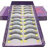 Falsche Wimpern, MMLC 1 Box Luxus 3D Falsche Wimpern Flauschigen Streifen Wimpern Lange Natürliche Partei Wimpern Verlängerung Einzelwimpern (Schwarz)