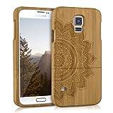 kwmobile Samsung Galaxy S5 / S5 Neo Hülle - Handy Bambus Schutzhülle - Cover Case Handyhülle für Samsung Galaxy S5 / S5 Neo