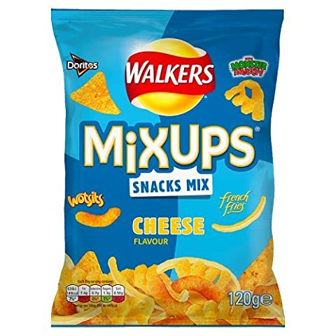 Walkers Mix Ups Cheese Flavour Snacks, 120g