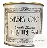 Shabby Chic Color Tiza Chalk Paint para muebles superficie mate cal Blanco (Chalky White) 1 L