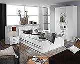 Schlafzimmer, Schlafzimmermöbel, Set komplett, Komplettset, Schlafzimmereinrichtung, Komplettangebot, Einrichtung, 3-teilig, Alpinweiß
