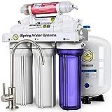 Sistema de filtrado de agua iSpring 75GPD de ósmosis inversa alcalino mineral de 6 etapas, modelo...