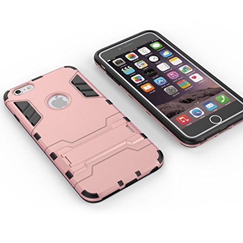 Custodia iPhone 6S,iPhone 6 copertura,[Heavy Duty]Corpo duro protettivo Armour Duro Layer ibrido PC + TPU con armadio [Shockproof] Case cover per iPhone 6S/6 4.7inch Oro rosa