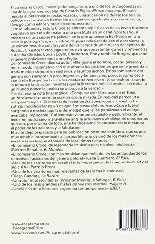 Resumen del libro de Ricardo Piglia LOS CASOS DEL COMISARIO CROCE