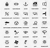 25 Symbole f. Schaltpaneel & Schalter