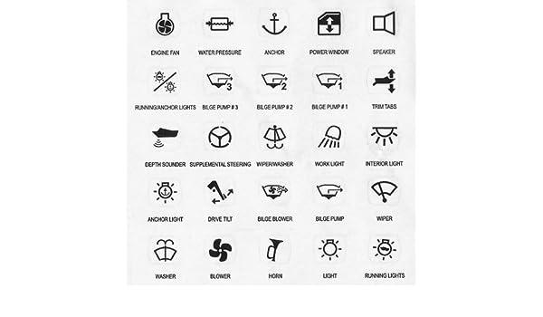 25 Symbole F Schaltpaneel Schalter Amazonde Sport