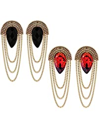 60ab705c9 Shining Diva Fashion gold-plated Stylish Fancy Party Wear Traditional Combo  Earrings For Women &