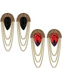 Shining Diva Fashion Gold-plated Stylish Fancy Party Wear Traditional Combo Earrings For Women & Girls(Golden)...