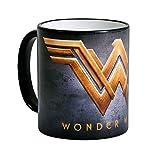 Wonder taza Mujer con logotipo de la película Elbenwald negro de cerámica 300ml