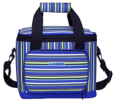 MIER Picnic Cool Bag Large Insulated Lunch Bag for Women and Men, 20 Can (Blue)