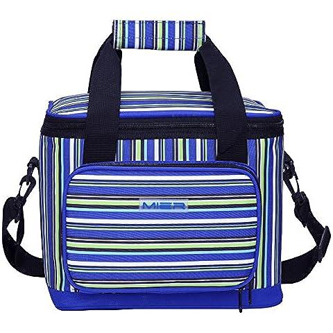 MIER 18 lattine banda Picnic Cooler Bag per adulti Insulated Lunch Box Bag per uomini (Isolato Sandwich)