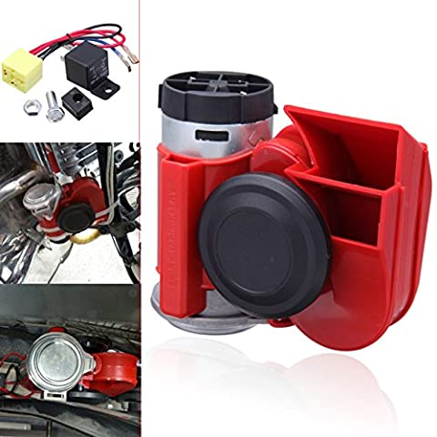 Iglobalbuy 12V 136 db Air Horn Compressor Kit Compact Double