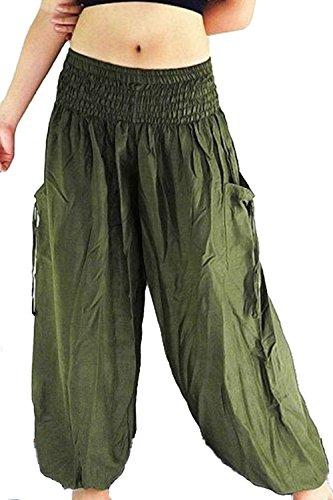 Les Femmes Perdent Toute Taille Élastique Lanterne Occasionnels Sports Pantalon De Yoga Navygreen