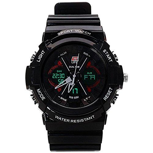 Ttlife ts01 sports fashion orologio impermeabile multifunzionale (black)