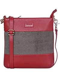 PERFORATED WOMEN LEATHER SLING BAG