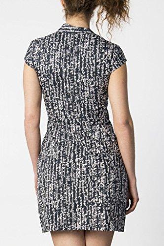 Robe noire et blanche imprimée Skunkfunk Blanc