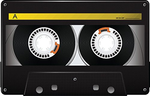 Audio Cassette Black Simple Alta Calidad De Coche De Parachoques Etiqueta Engomada 12 x 10 cm