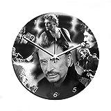 Aux Prix Canons - Horloge murale JOHNNY HALLYDAY Legende Rock Star en verre