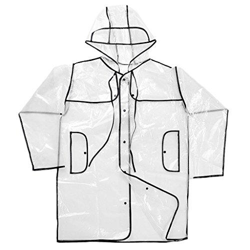 Generic Donna Uomo Trasparente Cappotto Di Pioggia Giacche impermeabili Campeggio Sportivo Ciclismo Abbigliamento - Trasparente Trasparente
