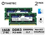 Timetec Hynix IC Apple 16GB Kit (2x8GB) DDR3 PC3-8500 1066MHz memory upgrade for MacBook, MacBook Pro, iMac, Mac Mini (16GB Kit (2x8GB))
