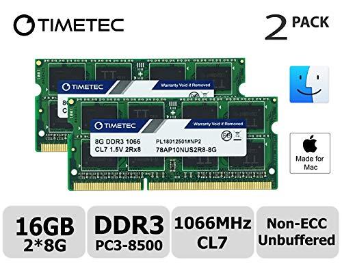 Macbook Core Duo Ram (Timetec Hynix IC 16GB Kit (2x8GB) DDR3 PC3-8500 1066MHz memory upgrade for MacBook, MacBook Pro, iMac, Mac Mini (16GB Kit (2x8GB)))