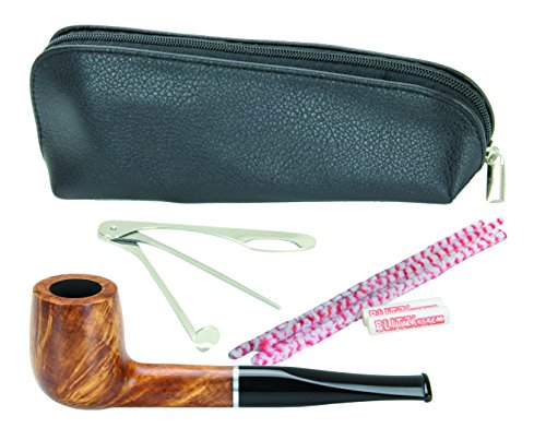 adorini Saturnia Pipe Set - premium Italian pipe - 15-piece Starter Set