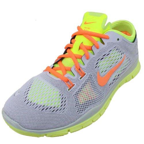 Nike Free 5.0 Print, Chaussures de running entrainement femme LT BASE GREY/ATOMIC ORANGE-VOLT-MD BS