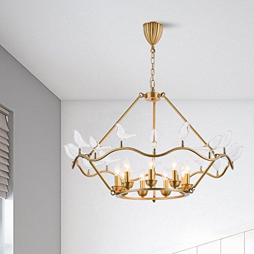 Postmodern kreativer überzug Gold Vogel Kronleuchter Wohn-Esszimmer Dekor Glas Kunst Kronleuchter (Kunst Bad Pl)