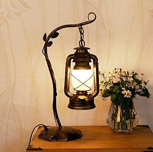 Lampada da tavolo Retro Industria Lanterna da tavolo Lampada ferro Student Learning Office Work Camera lettura sul comodino