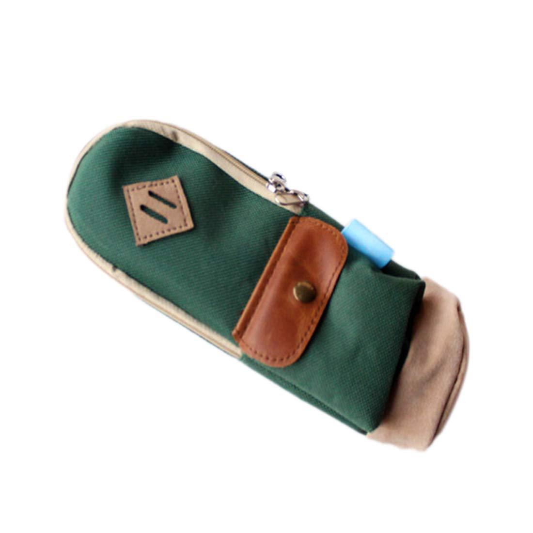 fablcrew Bolsa para cosméticos bolsa de maquillaje Maquillaje 20* 8* 4cm estuche estilo vintage Monedero Bolsa De Viaje Para Estudiantes Adultos verde