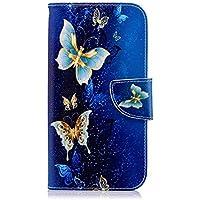 Handyhülle für Samsung Galaxy J6 2018 Lederhülle, Tasche Leder Flip Case Brieftasche Ledertasche Handyhülle Leder Flip Hülle Schutzhülle Handytasche Hülle Samsung Galaxy J6 2018, Uposao Bunte Vintage