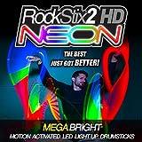 ROCKSTIX2 HD NEON Color Change - ULTRA BRILLANTE LED se encienden BAQUETAS